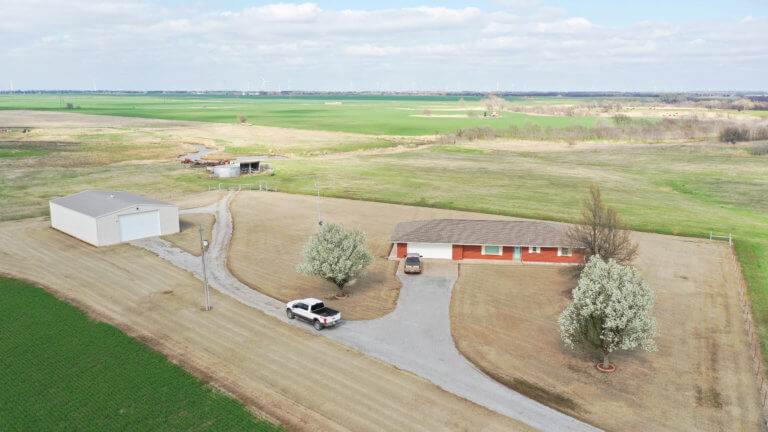 5/14 40± Acres * Brick Home * Shop * Minerals *  Country Living Enid OK