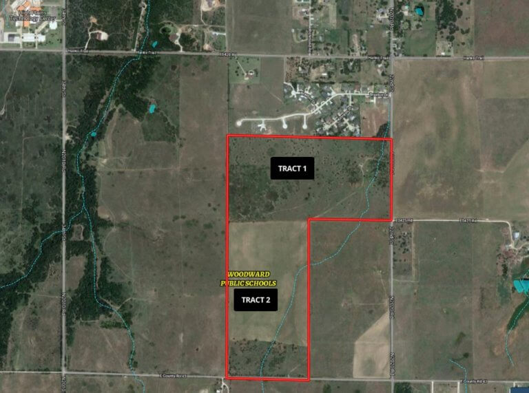 10/15 2-80± ACRE TRACTS OF LAND * WOODWARD OKLAHOMA