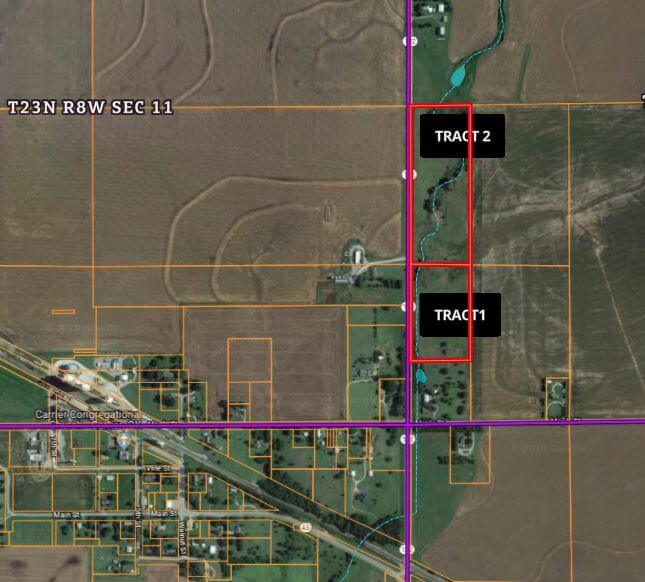 10/25 24± ACRES * CARRIER AREA * BUILDING SITES * CHISHOLM SCHOOLS