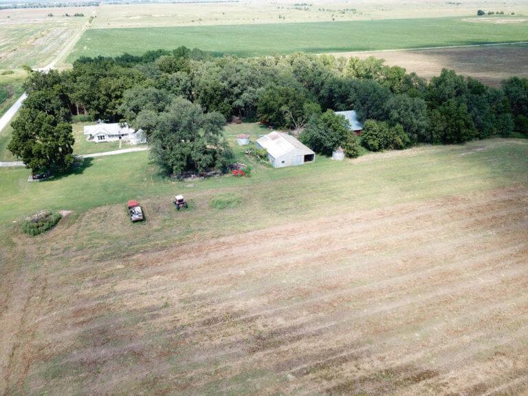 10/9 78.3 Acres Caldwell Kansas  Cropland* Hunting * Home * Shop building* Farm Equipment